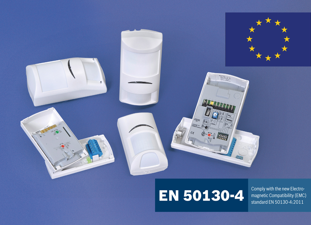 Bosch detectors to new european regulations are for Emc security systems