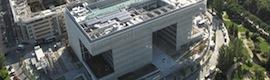 Banco Popular уверены периметр безопасности своих новых штаб-квартирой в интеллектуальных видео Vaelsys