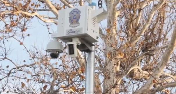Video surveillance statue of liberty