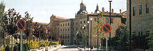 Mobotix technology is used to control traffic in the old town of Salamanca