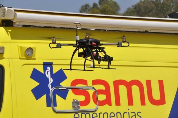 Samu utilizados drones em uma broca