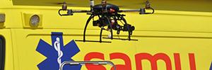 Los alumnos del SAMU utilizan los drones para un simulacro de crisis demostrando su potencial en emergencias