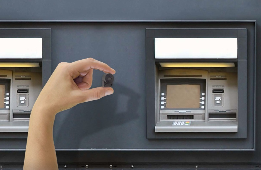 Hidden Cameras Protect The Network Lilin Atm Of A Bank In