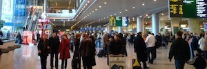The crossing of the Moscow Domodedovo airport secures with Samsung IP cameras