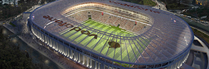 Vodafone Arena stadium in Istanbul with technology secures Geutebrück