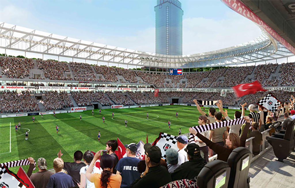 Vodafone arena stadium in istanbul with technology secures for Estadio arena