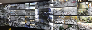A large video wall of eyevis manages security at the mosque of the Imam Al - Abbas in Karbala