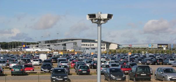 Dallmeier centro control APCOA aeropuerto Billund