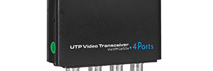 Transceivers UTP passive of Utepo for systems of security and surveillance multipoint