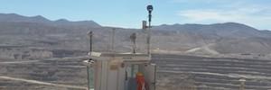 Bosch protéger avec leurs caméras opérationnelles mine à ciel ouvert dans le désert d'Atacama
