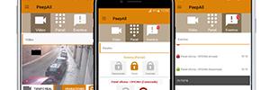 Die PeepAll app kombiniert mit Kameras Dahua Paradox Alarm-management