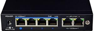 Conmutadores PoE no administrados para sistemas de vigilancia de Utepo
