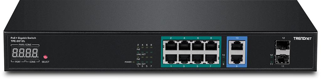 TRENDnet TPE - 3012L: NVR PoE switch for demanding IP