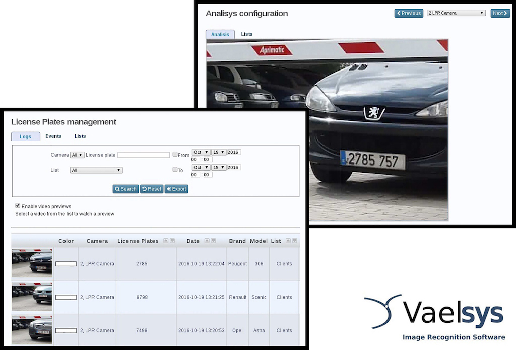 Vaelsys LPR: analysis of license plate recognition with advanced