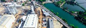 Ашугандж Южная электростанция включает в себя системы ПА и эвакуации Optimus