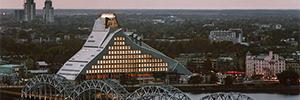 Национальная библиотека Латвии контролируемых большой приток посетителей с Vivotek технологии