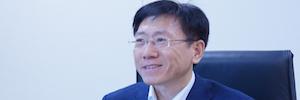Der Vorsitzende der Hanwha Techwin erklärt den Wirtschaft und Wachstum Plan für 2018