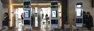 Lufthansa tested a system of biometric boarding at Los Angeles Airport