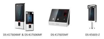 Hikvision DS-K1T604MF DS-K1T606MF y DS-K5603-Z
