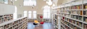 Detección de incendios y alarma por voz interconectados para proteger el patrimonio literario