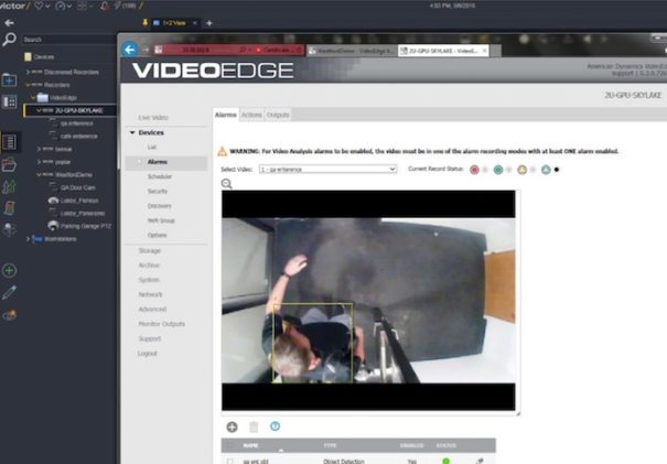 Johnson Controls videoedge deep learning