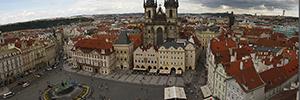 Panomera protege dos importantes centros de turismo y tráfico de Praga