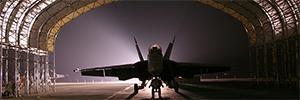 Optex protege las aeronaves y el personal de tierra de dos hangares privados