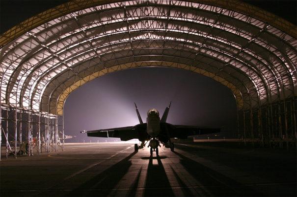 Optex protege dos hangares privados