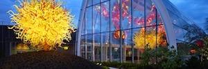 Fiber SenSys de Optex protege las obras de arte del Museo Chihuly Garden and Glass de Seattle
