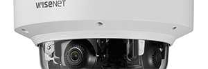 Hanwha presenta nuevas cámaras Wisenet P multidireccionales de 4 canales