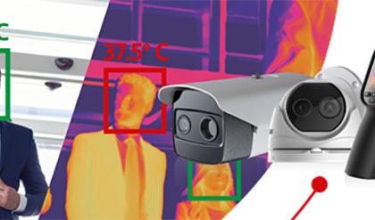 ヒクビジョンサーモグラフカメラデテクシオン温度