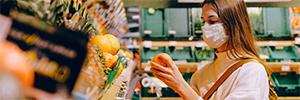 تحليل فيديو لتوفير مسافة السلامة في محلات السوبر ماركت