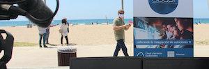 アバストは、高度なセンサーシステムでサロウのビーチで容量を制御します