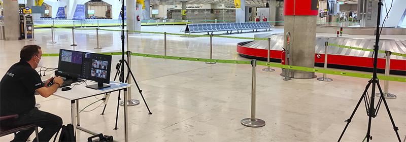 Indra y Aena en aeropuertos