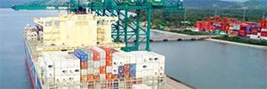 斯卡蒂保护船只和货物免受巴西现代海港的景致
