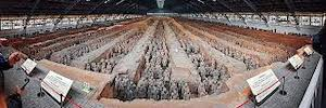 متحف تيراكوتا المحارب يحمي مع تقنية اختراق بوش